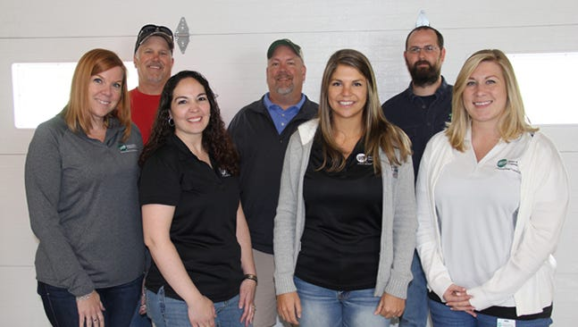 Pictured, from left, are: Georgie Drowsky, Mike Chamberlin, Kami Noel, Tom McMaster, Tasha Sanders, Brandon Beard and Sarah Frank. Cecil Knotts and Mark Cramer were not available for the photo.
