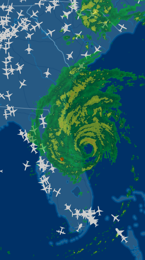 This image provided by flight-tracking service FlightAware