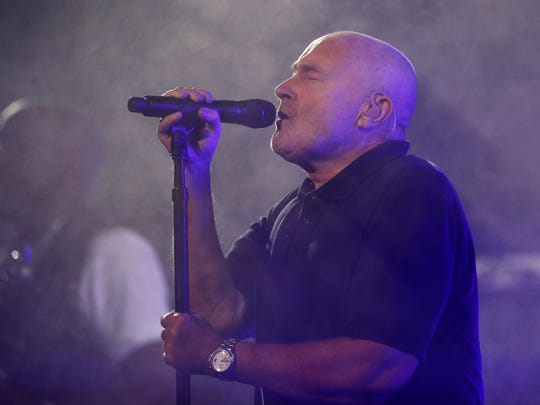 Phil Collins performs on opening night prior to the evening session on Day One of the 2016 US Open at the USTA Billie Jean King National Tennis Center on August 29, 2016.