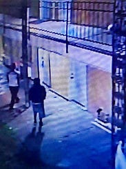 Surveillance video showing possible suspects in a Saturday