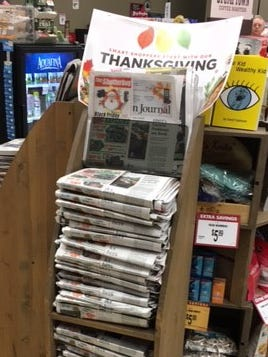 Thanksgiving Day print editions arriving Wednesday afternoon at Salem area stores.