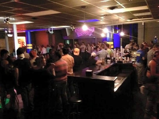 A Dec. 2015 photo of bar-goers at The ER, the gay bar