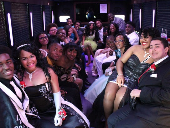 This group came in a party bus.