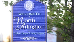 North Arlington welcome sign.