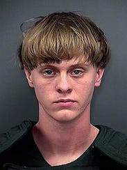 The booking photo of Dylann Roof, 21, who is suspected