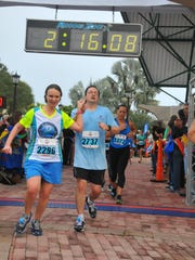 Tim and Charlotte Walters finish the 2013 Space Coast
