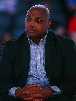 TNT NBA analyst Charles Barkley in attendance at a Phoenix Suns game.