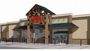 A rendering of the Maverik convenience store and gas station approved on the I-25 frontage road east of Fort Collins.