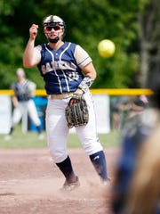 Susquehanna Valley's Sophia Pappas pitches during Saturday's class Class B final game versus Ichabod Crane at the NYSPHSAA Softball Championships in Ganesvoort on June 9, 2018.