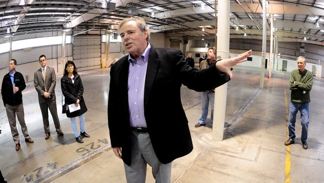Chuck Lee, president of Mountain West Career Technical Institute, speaks during a tour of the Career Technical Education Center on Friday, December 22, 2014, in Salem.