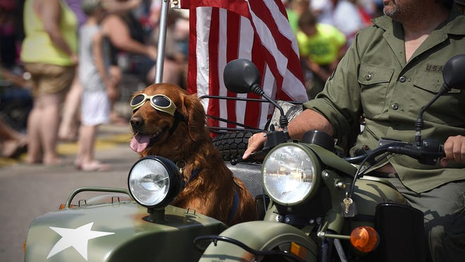 Who else would you want as your co-pilot in the Bowlus Fun Days parade?