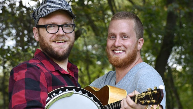 "Jack Dwyer, right, and Lane Trisko are releasing their first CD called ""Sometimes Myrtle Calls."" The party is at Dancing the Land Farm. Their band is called The Song of My People, after the popular memes."