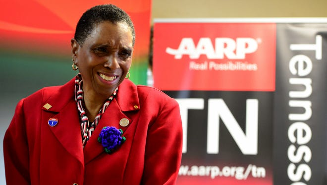 AARP Tennessee presented its annual Andrus Award to Carolyn Lawhorn in recognition of her outstanding service to the community Wednesday morning.
