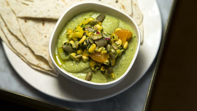 Avocado hummus at Flower Child. The third location is opening at Uptown Plaza in Phoenix, Tuesday, Nov. 17.