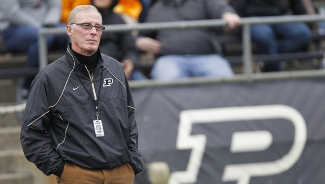 FILE – Purdue Athletic Director Morgan Burke addressed the status of the football program on Wednesday.