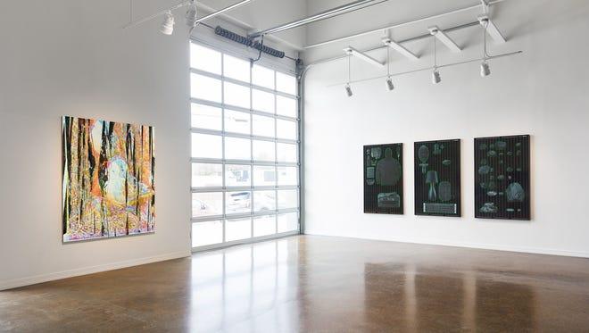 """""""three carbon tons"""" by Jared Sprecher and Michael Jones McKean, installation view, Zeigeist Gallery, 2015."""