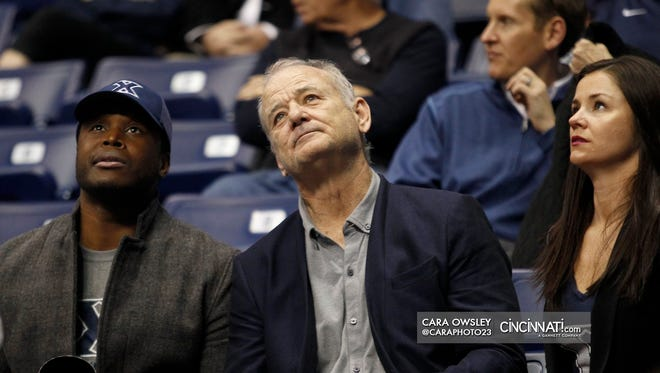 Bill Murray is spotted at Cintas Center Wednesday for No. 5 Xavier's matchup vs. No. 1 Villanova. Murray's son is an assistant coach for the Musketeers.