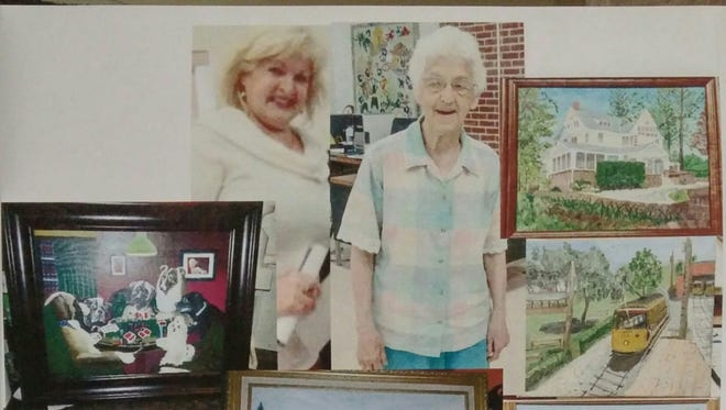 In this file photo, Nancee Wert, left, is pictured alongside Virginia Lease, right. Both artists enjoy taking lessons at the Yorktown Senior Center.