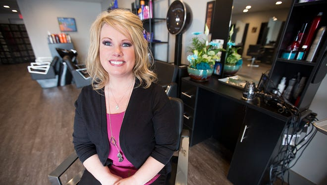 Halo Hair Design owner Jessica Batten Wednesday at her salon in Plover.