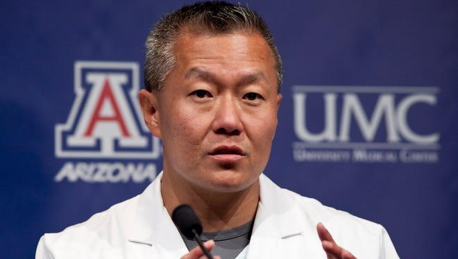 Dr. Peter Rhee, a Tucson trauma surgeon who gained widespread praise for his team's care of former Congresswoman Gabrielle Giffords and other victims of a January 2011 mass shooting, will leave Banner-University Medical Center Tucson in June 2016 to take a position in Atlanta.