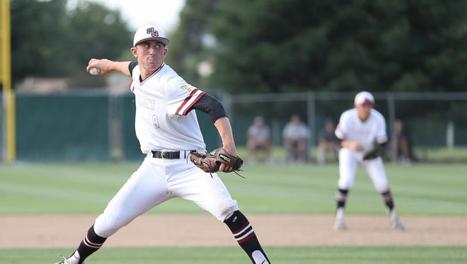 Mt Whitney's Holden Powell pitches against Fresno Thursday in a Central Section Division II quarterfinal baseball game.