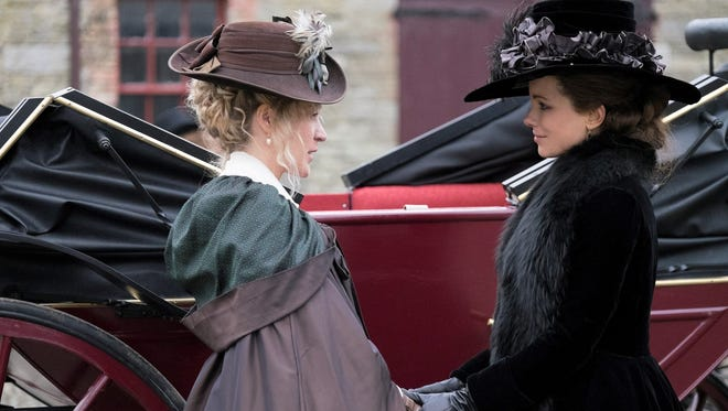 "Chloë Sevigny and Kate Beckinsale in the witty Jane Austen adaptation ""Love & Friendship."""
