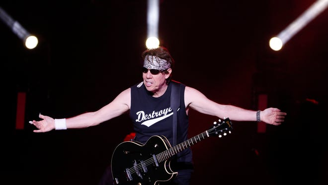 George Thorogood takes the stage with the Destroyers as they play the Delaware State Fair Friday.