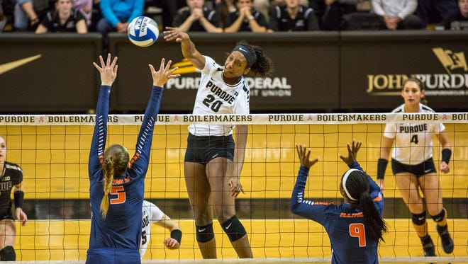 Danielle Cuttino will be used on the outside this season after two years at middle blocker.