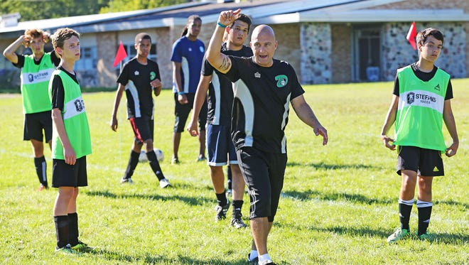Andreas Davi make a point as he tries to resurrect the Dominican soccer program.
