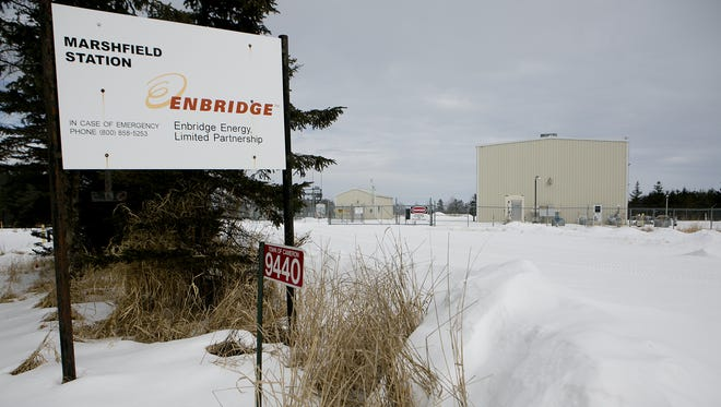 The Marshfield Enbridge station in the town of Cameron in February 2015.