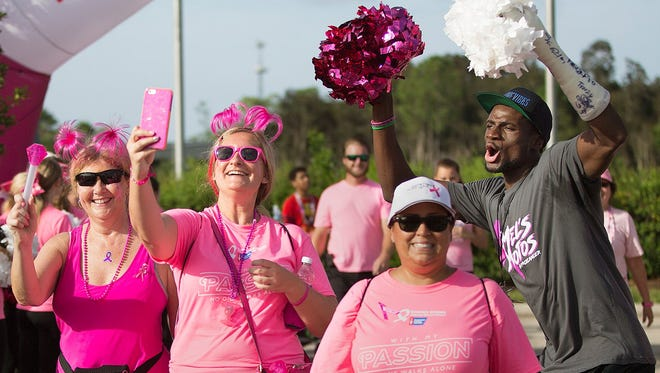 More than 700 people took part in the 16th annual Making Strides Against Breast Cancer of Lee County Walk at Miromar Outlets in Estero last October.