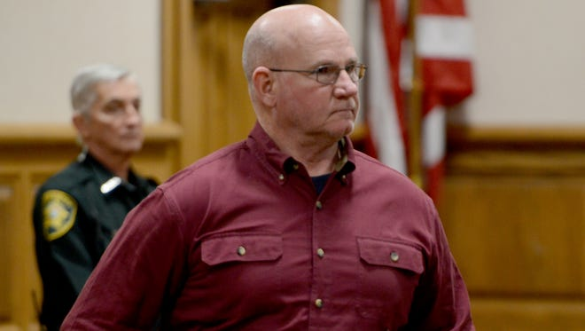 Former Henderson County Sheriff Ricky Lunsford appeared in Madison County Court Monday afternoon.