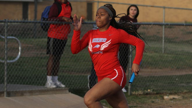 Zharia Banks and the Hirschi girls have lowered their area-best 4x100 relay time to 49.18 seconds, but they'll likely need to shave off a little more time this weekend.