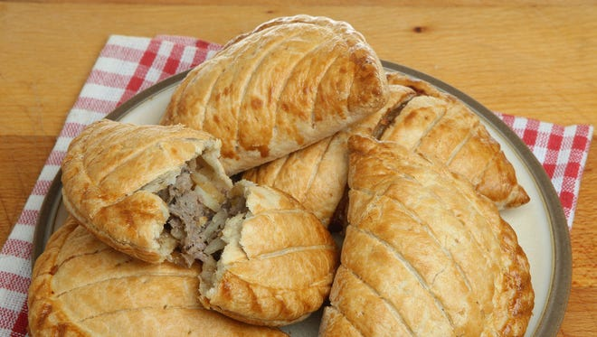 Cornish pasties are a convenient, tasty hand-held meal.