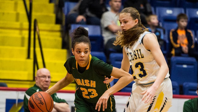 Coppin State commit Jania Wright will be York Catholic's go-to player while Kate Bauhof recovers from a torn ACL.