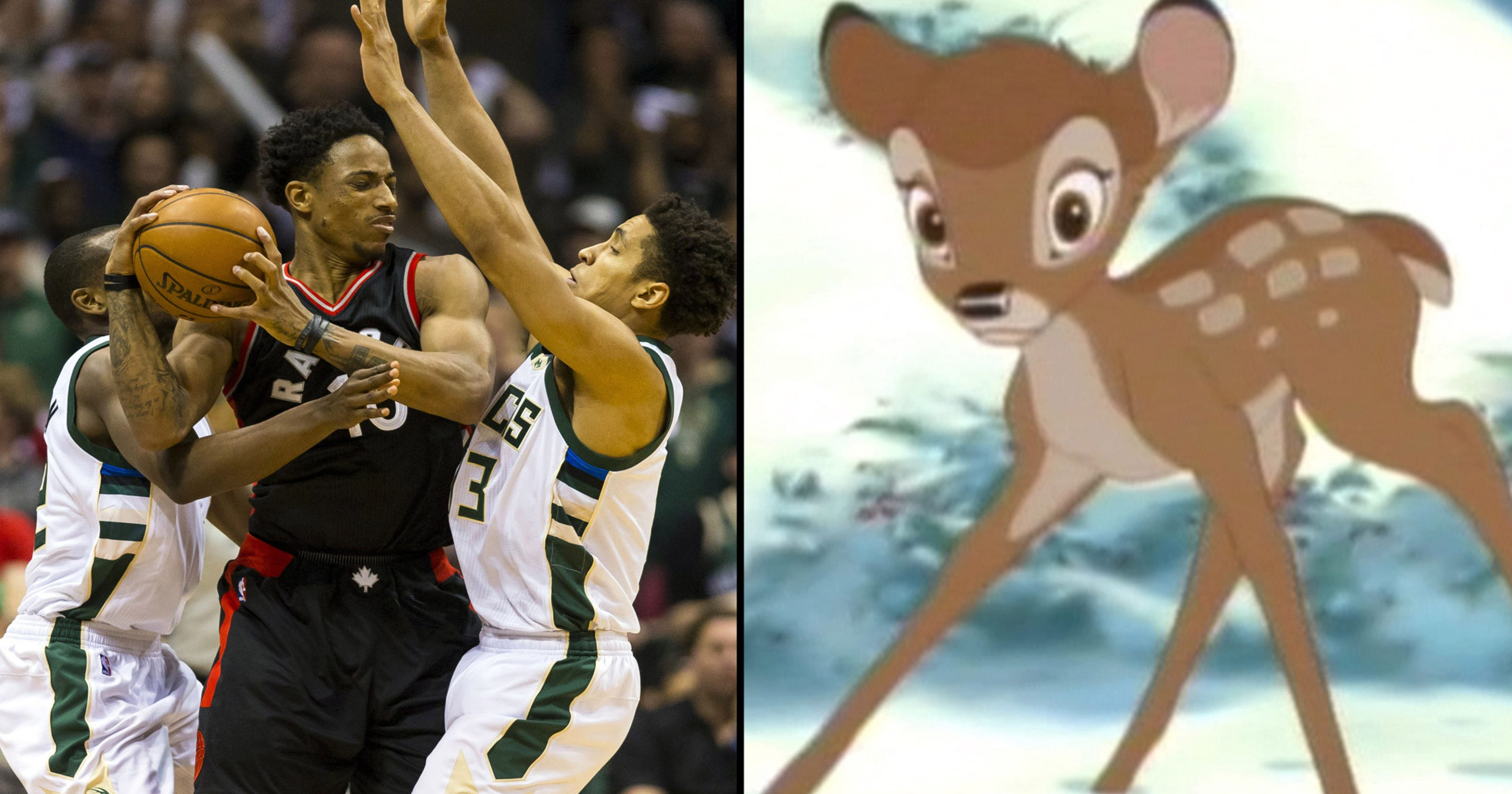 857dd3192d6 Raptors respond to all the Bucks trolling with Bambi tweet after Game 4 win