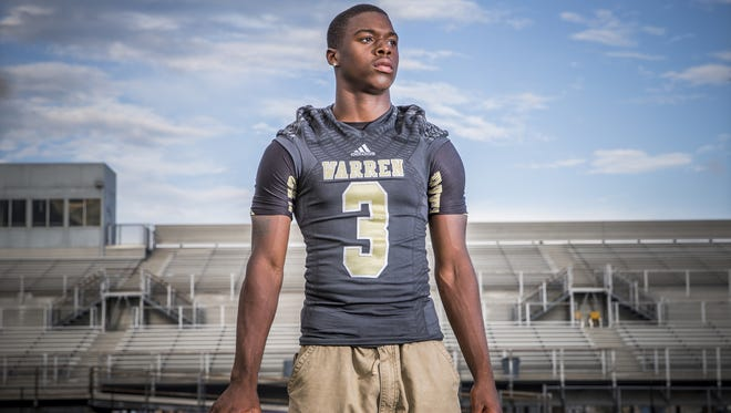Dijon Anderson, DB, Warren Central.  Portrait taken on Aug. 10, 2016.