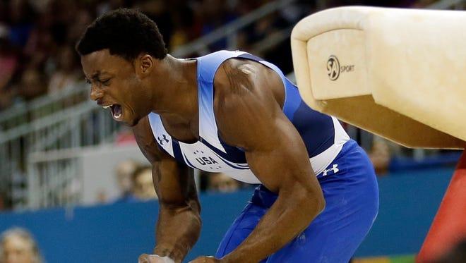 Milwaukee gymnast Marvin Kimble (shown in a 2015 meet)  made the U.S. team on Sunday.,