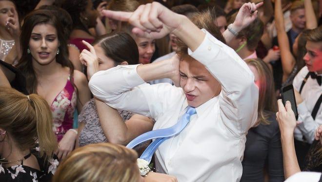 Students arrive at Susquehannock High School in Glen Rock for the school's homecoming dance, Saturday, October 21, 2017.