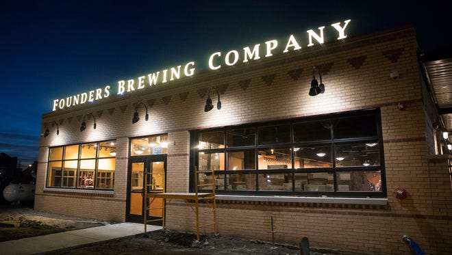 Founders Brewing Co. is set to open its Detroit taproom on Dec. 4, 2017.