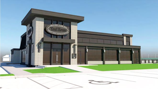 The front facade rendering of Naples' first Yard House restaurant and bar, planned at the location of the former Chili's Bar & Grill in Park Shore Plaza on U.S. 41.