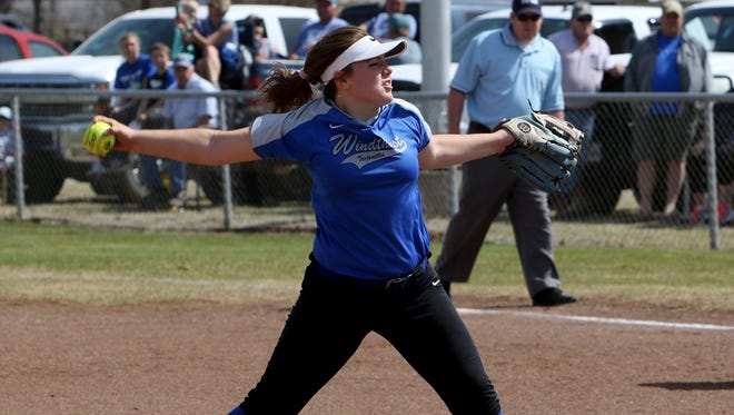 Windthorst pitcher Laynie Brown had her appendix removed last Monday, leaving the Trojanettes scrambling to replace here in the opening round of the playoffs.