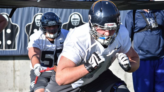 Jake Nelson is one of three returning starters on the Nevada offensive line.