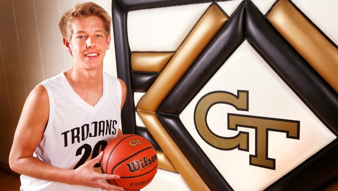 Covington High School senior Spencer Pettit is the 2018 Journal & Courier Small School Player of the Year for basketball.