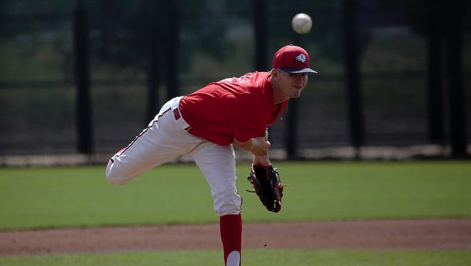 DSU Baseball junior pitcher Gabe Taylor pitched six solid innings and homered to help lead the Trailblazers to a 7-5 victory over Fresno Pacific on Saturday afternoon at Bruce Hurst Field.