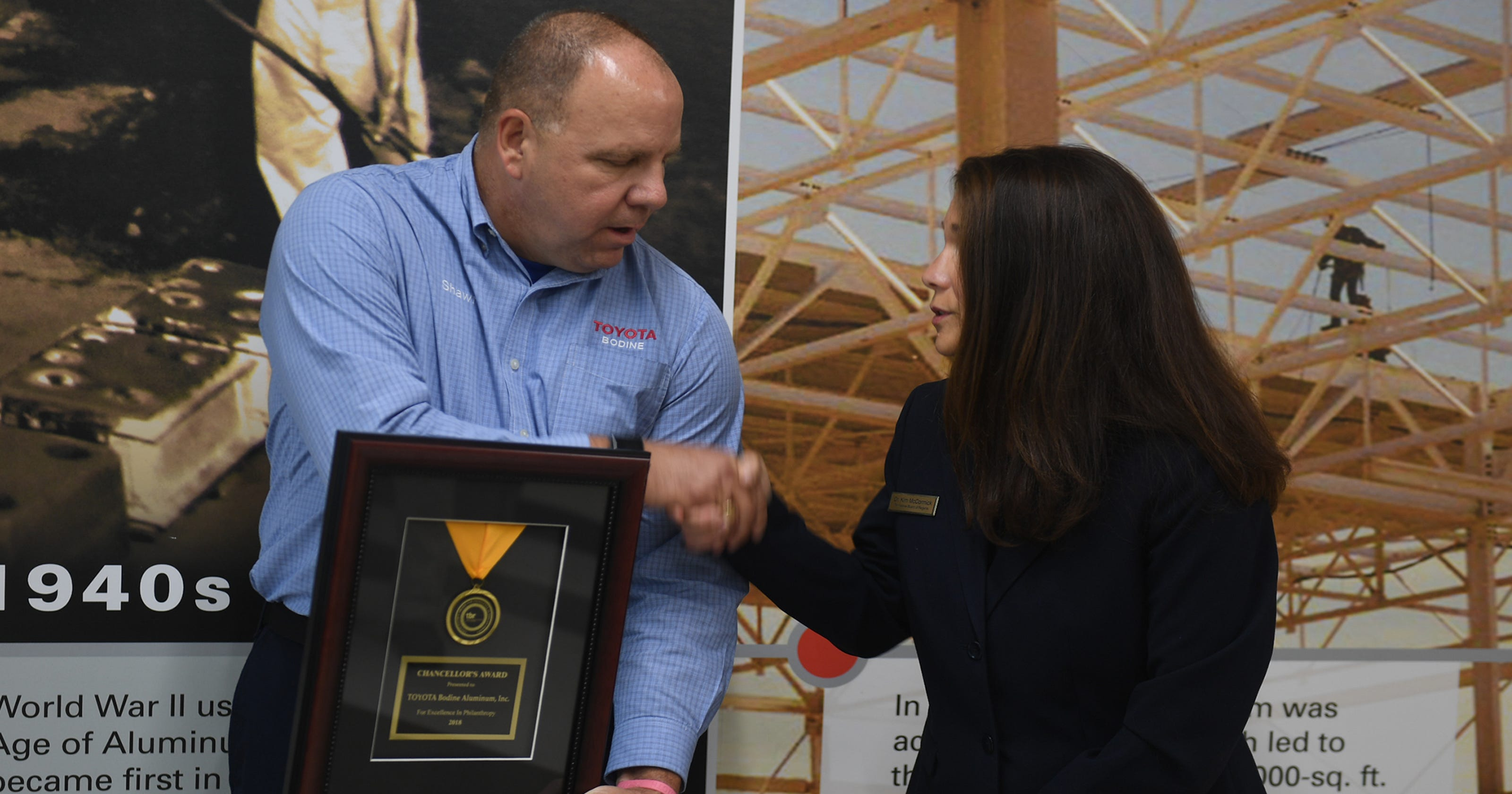 Toyota Bodine honored for education contributions by TCAT