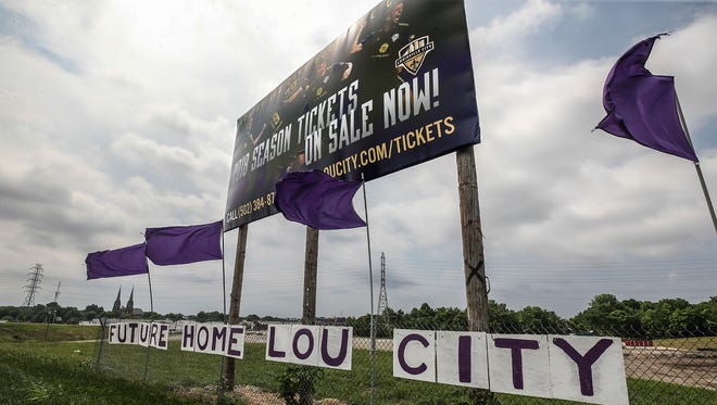 The site of a new Louisville FC stadium in Butchertown.May 31, 2018