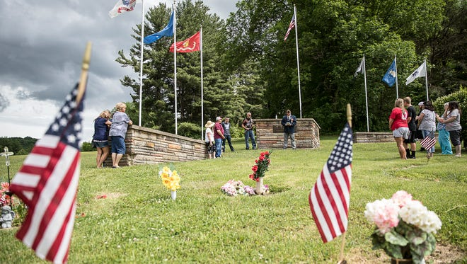 VFW District 12 Commander Bill Marsh led a small Memorial Day Ceremony on May 30, 2018, at Floral Hills Memory Garden in Chillicothe, Ohio.