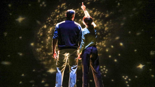 """Ron Feltner plays a beekeeper and Jessi May Stevenson plays a quantum physicist in the Santa Paula Theater Center's production of """"Constellation."""