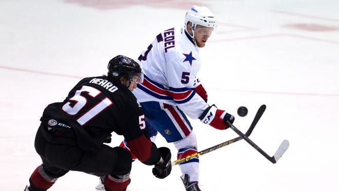 In 59 games for the Amerks, Chad Ruhwedel has produced 8 goals, 23 assists and 31 points. He has been recalled for the first time this season by the Sabres.